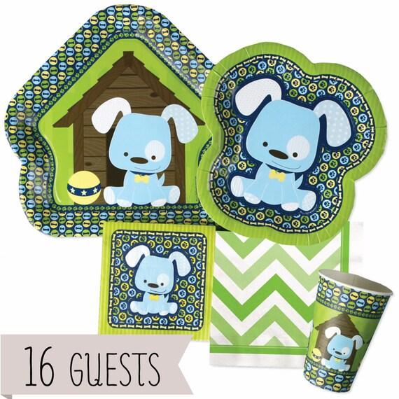 Blue Boy Puppy Tableware Kit