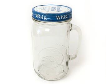Vintage Miracle Whip Glass Jar Container