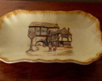 Sandland Ware Pin Tray/Trinket Dish. The Jolly Drover. 1950's.