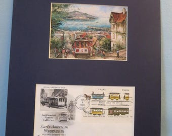 The Cable Car on Hyde Street in San Francisco and the First Day Cover of its own stamp