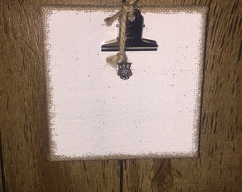 Burlap Canvas Clipboard