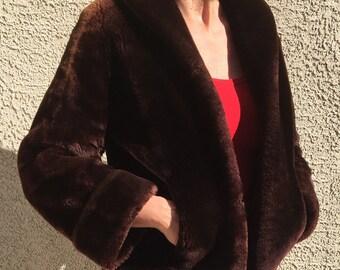 Vintage Mouton Fur Jacket