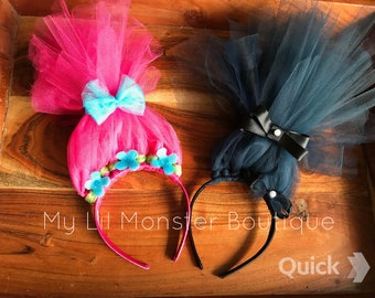 Trolls Poppy headband/ Branch headband
