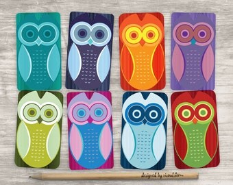 Printable Owl Favor Tags Abstract Owl Birthday Party Favors Colorful Owl Gift Tags Owl Baby Shower Favor Tags Digital Owls Tag Collage Sheet