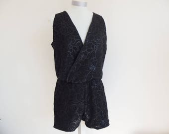 Wrap silk and lace lingerie Playsuit