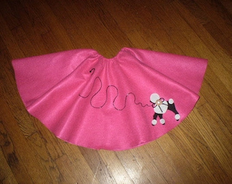 Girls 2/3 toddler Poodle Skirt Full Circle Felt....American Girl Sock Hop Party.....50's Rock N Roll Vintage Style
