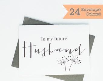 Card for Husband, To My Future Husband Card, Husband on Wedding Day Card, Wedding Day Cards (WC005-HW)
