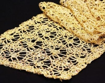 Lace Table Runner, Silver Lace Table Runner, Gold Lace Table Runner, Wedding Table Runner, Chemical Lace Table Runner, Wedding Table Runner