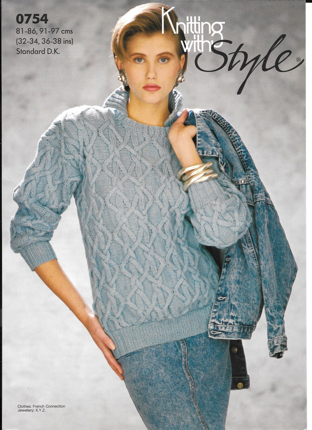 Knitting With Style Ladies Jumper Knitting Pattern Designed By Debbie Scott Jumper To Fit Size