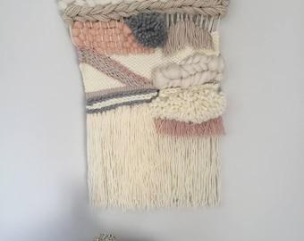 Woven wall hanging, Nursery Decor, Wall art, Boho, Home Decor, Tapestry, Textile Art, Wool Wall Hanging