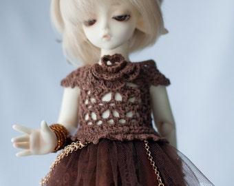 Mori dress for 1/6 tiny BJD Yo-SD/Littlefee size dolls.