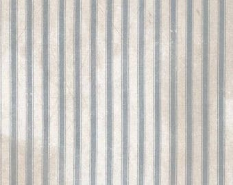 Ticking Neutral Cotton Woven - Dapper by Tim Holtz