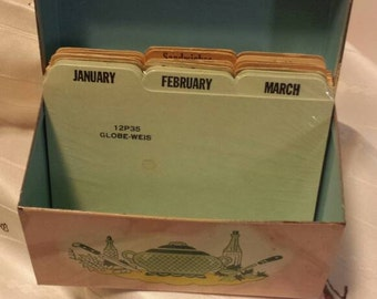 Vintage Month Tab Index Cards