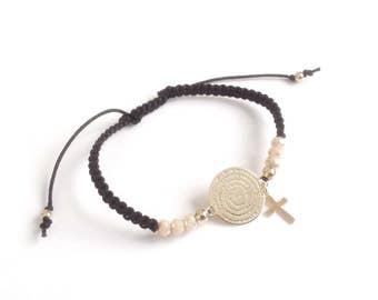 Lords Prayer Bracelet, Our Father Spanish Prayer Woven Bracelet, First Communion Gift, Padre Nuestro, Catholic Gifts, Primera Communion