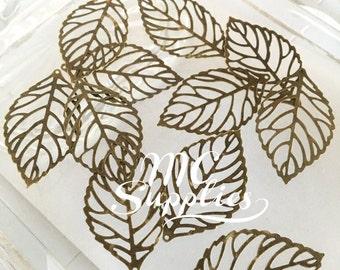 10 pcs,Metal leaves,blank metal leaves,antique bronze leaves,metal findings,embellish leaves,metal leaf,blank leaf supply,metal blanks.
