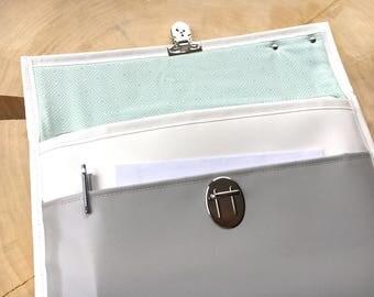 """Bag made of truck tarpaulin for notebook 13 """"MENTA"""
