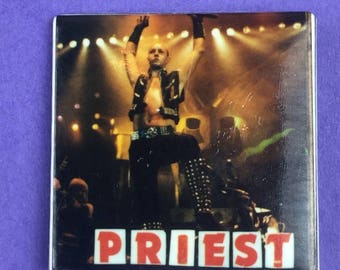 Judas Priest Original 1980s Vintage Dead Stock Square Pin