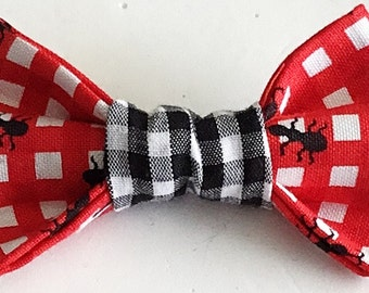 Red Ant Picnic Table Bow Tie for Male Cat and Dog Collar