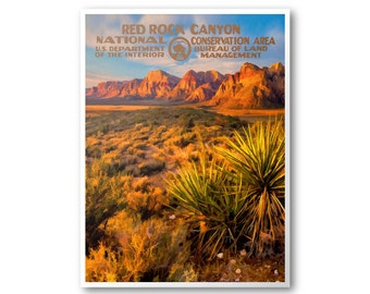 Red Rock Canyon National Conservation Area Travel Poster