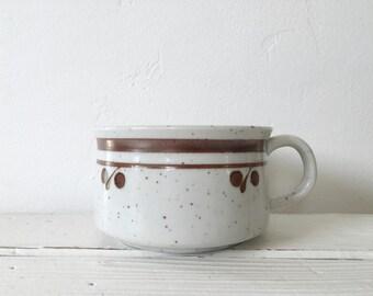 Vintage Otagiri Soup Bowl with Handle / Japanese Stoneware