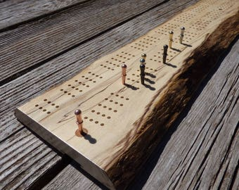 Cribbage Board/Wall Art - Spalted Boxelder 4-Player (95)