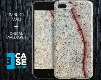 Geo Collection x Timbuktu Mali Phone Case, iPhone 7, iPhone 7 Plus, Protective iPhone Case, Galaxy s8 Nature Africa Maps CASE ESCAPE