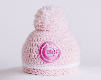 Chicago Cubs baby girl, newborn, hats