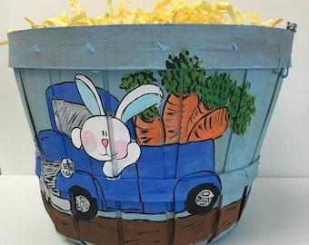 Easter Basket | Easter egg basket | boy easter basket | easter bunny basket | hand painted easter basket | personalized easter basket