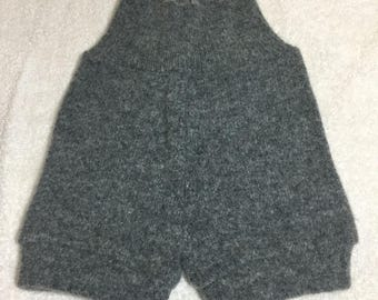 SMALL Upcycled 100% Wool Shorties gray