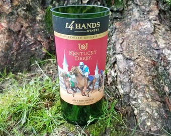 14 Hands Winery Kentucky Derby *LIMITED RELEASE** Repurposed Wine Bottle Soy Wax Candle YOU Pick The Scent