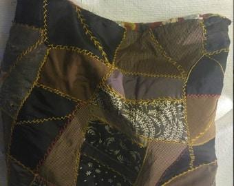 Crazy Quilt Rugged Pillow