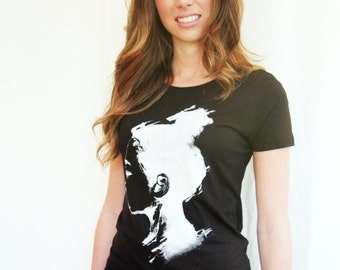 Organic Bamboo Black Jap Girl T-shirt