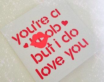 Valentines card, valentines day, boyfriend valentines, Anniversary card, his birthday, card for him, husband valentine, card for boyfriend,