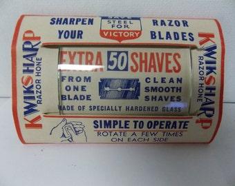 WWII Era Kwiksharp Razor Hone LA France Novco USA Made Chicago Victory