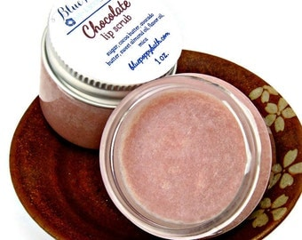 Chocolate Lip Scrub, Sugar Lip Scrub, Lip Polish, Exfoliating Scrub for Lips