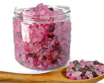 Sultry Black Jasmine Bath Crystals, Bath Salts, Dead Sea Salts, Mothers Day Gift for Her