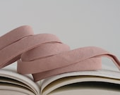 "1/2"" Double Fold Bias Tape: Essex Linen Blend Rose"