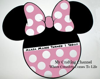 Minnie Mouse Placemat Pink Dots Sets-Minnie Mouse-Placemats-Birthday Placemats-Minnie