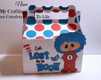LG Dr Seuss Thing 1 Thing 2 Treat Boxes-Dr Seuss Treat Boxes-Thing 1 Thing 2 Treat Boxes-Classroom Party Boxes-Dr Seuss