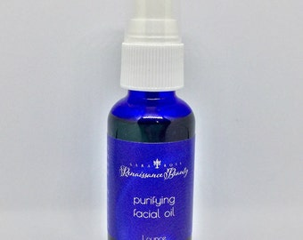 Purifying Facial Oil for Normal/Oily/Acne Prone Skin. Oily Skin Moisturizer, Organic Acne Care, Natural Skin Care