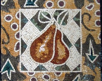 Mosaic Art For Sale- Abstract Pears
