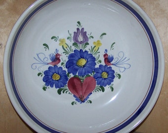 """10"""" Bowl Handpainted Ceramic in old world style made in Austria"""