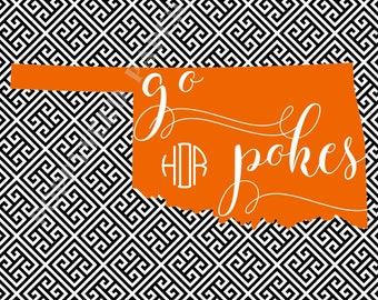 Oklahoma State note card set, OSU stationery, Oklahoma State thank you notes, Pokes