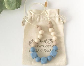 SALE - Teething Necklace for Mom, Silicone Chew Necklace, Mommy Chewelry, Nursing Jewelry, Teether Necklace, Chew Jewelry