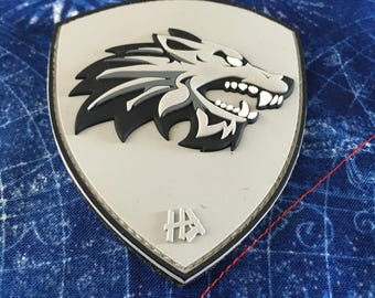 wolfsix  squad patch- pvc with velcro hook and loop backing.