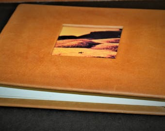 "Leather Photo Album Landscape 6.25"" x 8.5"" With Photo Frame"