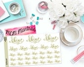 "MCM MANTRAS: ""Shine"" Paper Planner Stickers!"