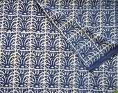 Moroccan Indigo mudcloth Indigo fabric block print fabric by the yard