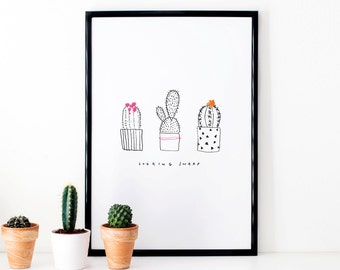 Cactus Illustrative Print - 'Looking Sharp'