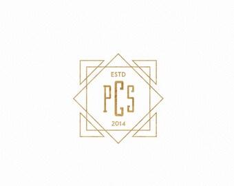 Premade logo - handwritten Logo - Boutique logo - custom logo design - gold logo - luxury logo branding - modern logo - events parties logo
